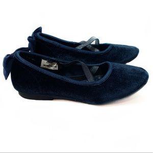 Navy OshKosh Vashti Bow Slip-On Size 1